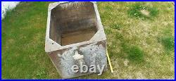 Large 1940s Vintage Riveted Watertight Galvanised Steel Water Tank/Trough/Plant