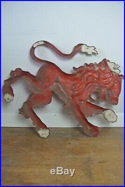 Large English Vintage Red Lion Pub / Bar Sign Circa 1950