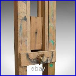 Large Vintage Artist's Easel, English, Beech, Picture, Tripod, Canvas, C. 1930