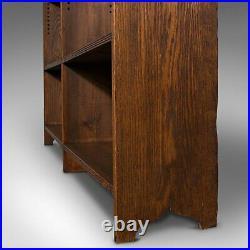 Large Vintage Bookcase, English, Oak, Bookshelf, Cabinet, Mid 20th Century, 1950