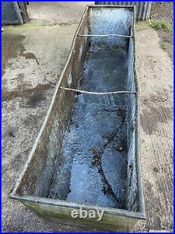 Large Vintage Galvanised Water Trough