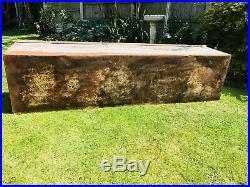 Large Vintage Galvanised Water Trough. Excellent Condition. 184 x 50 x 42cm