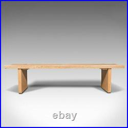Large Vintage Museum Bench, English, Oak, Dining, Kitchen, Pew, Late 20th, 1980