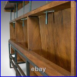 Large, Vintage Pew, English, Solid Teak, Bench, Modernist, 20th Century