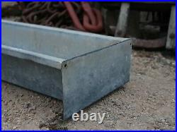 Large free standing vintage Galvanised wide Trough garden Planter thick