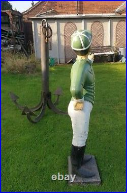 Lawn Jockey Cast Iron Vintage Hitching Post