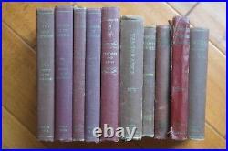 Lot 10 Vintage Ellen G White SDA Books Adventist Maroon Antique Hardcover