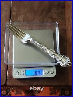 Lot of 4 Vintage GORHAM Sterling Silver ENGLISH GADROON 7 1/8 Dinner Forks 1939