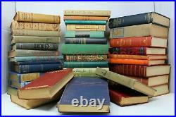 Lot of 50 Vintage Old Rare Antique Hardcover Books Mixed Color Random