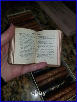 MIniature Leatherbound Vintage Shakespeare Books ANTIQUE