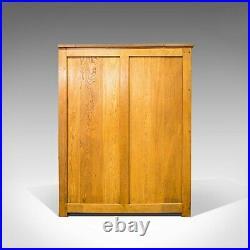 Massive Vintage Document Cabinet, English, Oak, Specimen, Art, Archive, Cupboard