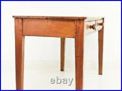 Mid Century Vintage English Oak School Desk, 1950s