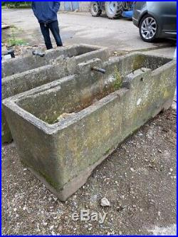 Old /vintage large water trough / feeder / looks like old stone 2 available