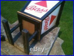 Original Antique Retro Vintage BASS Pub Light Lantern Fixture Fitting Mancave