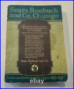 Original Antique Vintage 1922 Sears Roebuck And Co. Catalog #144 981 Pages