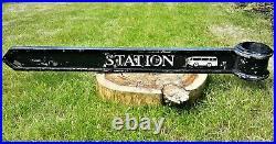 Original Vintage London Signpost Street Direction Sign Station from Kingston