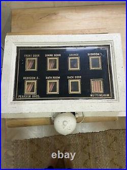 Original/Vintage Servants/ Butler Bell Box + 2 Push Units. 8 Room. Unrestored