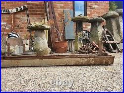 Pair of vintage Galvanize hanging Trough garden Planter thick farm grade