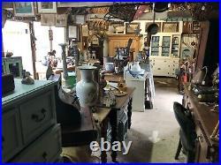 Pair of vintage cast iron urns