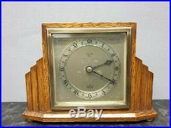 Quality Vintage Art Deco English Elliott 8 Day Mantle Clock