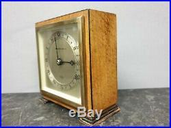 Quality Vintage Square English Elliott 8 Day Mantle Clock