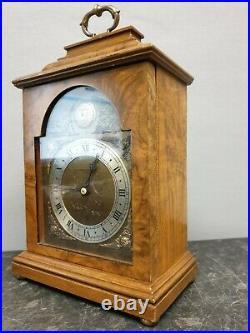 Quality Walnut English Vintage Elliott 8 Day Mantle Clock