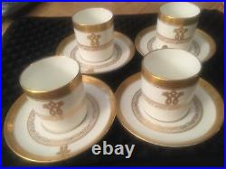 Rare (4) Tiffany & Co Vintage Demitasse Cups & Saucers By Coalport (english)