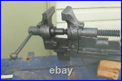 Rare Antique English Vice, vintage vice peter Wright & son parallel vice