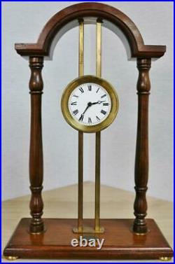 Rare Vintage 8 Day Dent London Mahogany Framed Mystery Gravity Rack Table Clock
