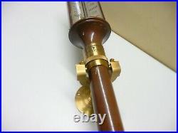 Rare Vintage/ Antique English ships marine Gimbaled brass stick barometer I Blat