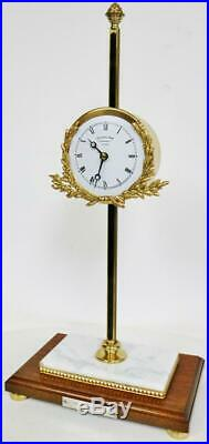 Rare Vintage C1973 8 Day Thwaites & Reed London Mystery Gravity Rack Table Clock