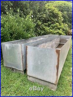 Reclaimed Huge Large 8ft / 2.5m galvanised metal trough garden vintage planter