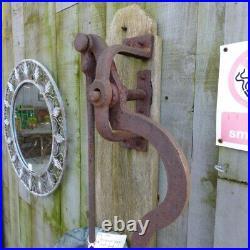 Reclaimed Wall Mounted Lead Water Pump Vintage Garden Feature Verdigirs Rwi4165