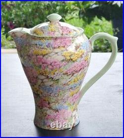 SHELLEY Rock Garden Chocolate Pot Teapot Chintz Antique Vintage English China