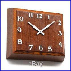 SMITHS 1950s oak ENGLISH Industrial Midcentury Vintage Retro Wall Clock