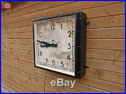 SMITHS ENGLISH CLOCK SYSTEMS, FACTORY / STATION WALL CLOCK. XL Size. Stunning