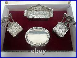 Silver Miniature Dolls Furniture, Sterling, Vintage, English, Hallmarked 1976