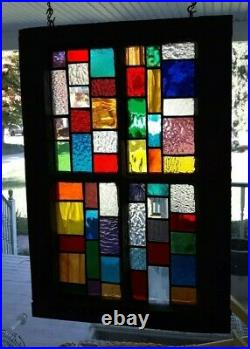 Stained Glass Vintage frame 20 x14