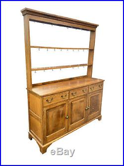 Stunning Antique Vintage English Oak Kitchen Dresser, Welsh, Farmhouse