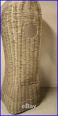 Stunning & Rare Vintage Handmade English Wicker Porter's Hooded Garden Chair