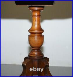 Stunning Revolving Vintage English Regency Style Drum Side End Lamp Wine Table