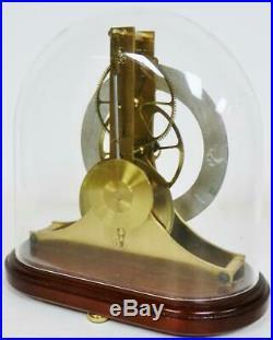 Sublime Vintage Dent London 8Day Timepiece Regulator Skeleton Clock Under Dome