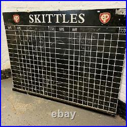 UK DELIVERY Set of Vintage English Antique Nine Pin Skittles With Scoreboard