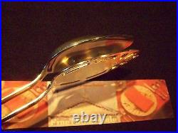 VINTAGE ENGLISH SHEFFIELD STYLE SILVER SERVING TONGS for ENTREE or SIDE DISHES