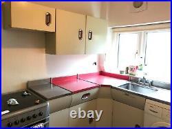 VINTAGE English Rose Kitchen units (Red) 1950s