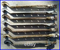 VINTAGE METAL CASEMENT WINDOW STAY LATCHES OLD HANDLES 7 JOB LOT 30s RARE