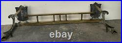 VTG Antique Brass Fireplace Gate Shield Fence Style Design Curb Hearth Fender
