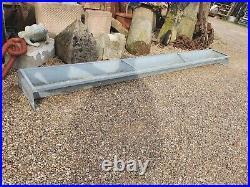 Very Large free standing vintage Galvanised Trough garden Planter