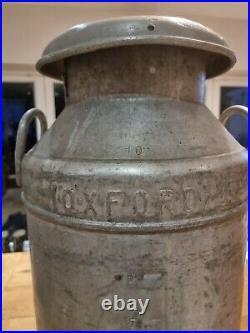 Vintage 10 Gallon Aluminium Milk churn Alloy Milk Churn MILK MARKETING BOARD