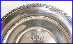 Vintage 1939 Gorham USA # 344 English Gadroon Sterling Silver 9 Sandwich Plate